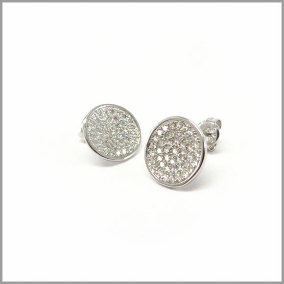 PS5.60 Cubic Zirconia Silver Earrings