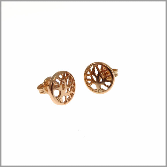 PS9.54 Rose Gold Tree of Life Earrings