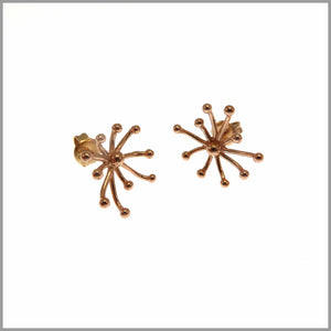 PS9.57 Rose Gold Firework Earrings