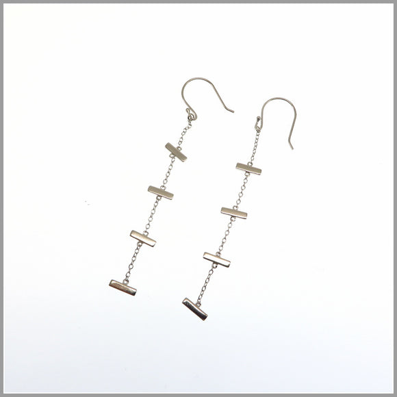 PS6.19 Silver Bar Earrings