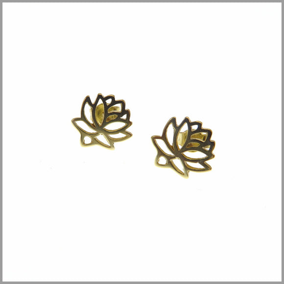 PS9.47 Gold Protea Earrings