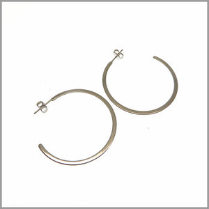 PS6.65 Silver Flat Circle Earrings