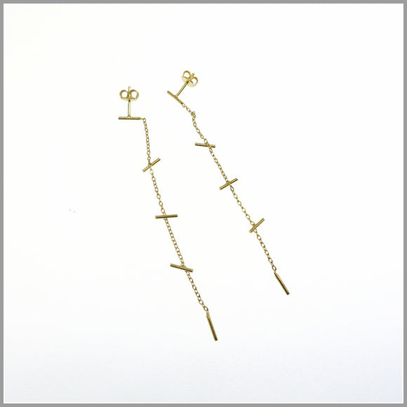 PS6.76 Gold Chain Chandelier Earrings