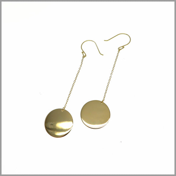 PS6.82 Gold Pendulum Earrings
