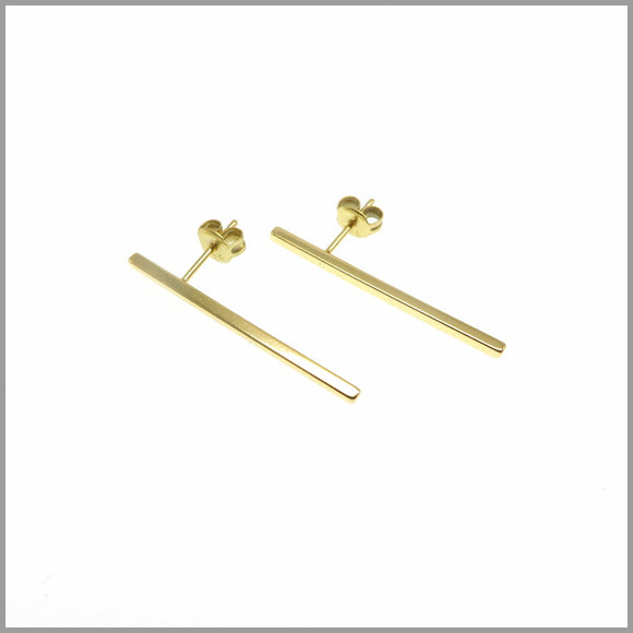 PS6.85 Gold Bar Stud Earrings