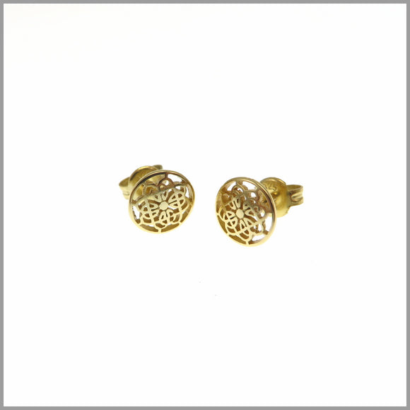 PS6.8 Gold Mandala Stud Earrings