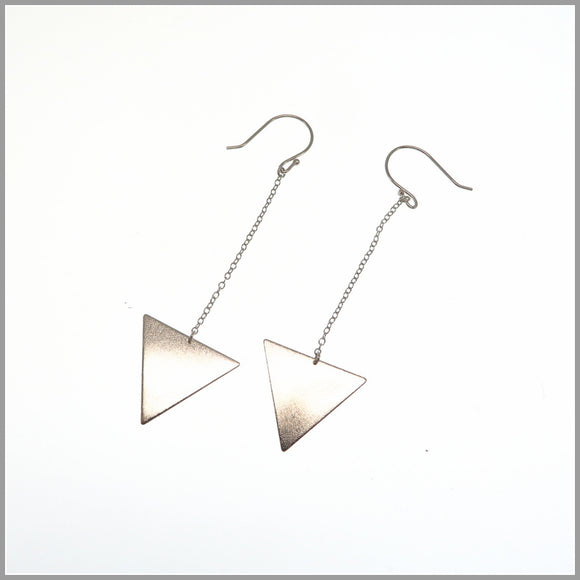PS6.96 Long Silver Arrow Earrings