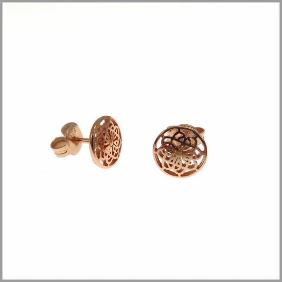 PS9.51 Rose Gold Mandala Stud Earrings
