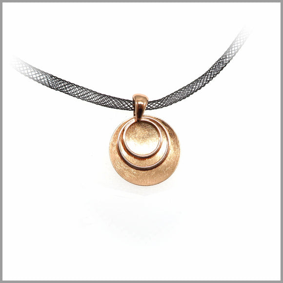 PS7.107 Rose Gold Circle Shield Pendant