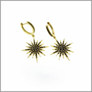 PS 7.10 Black & Gold North Star Earrings