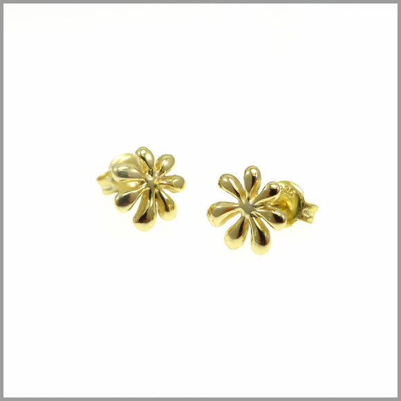 PS7.37 Gold Flower Stud Earrings