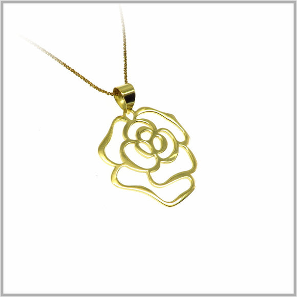 PS7.46 Gold Rose Pendant