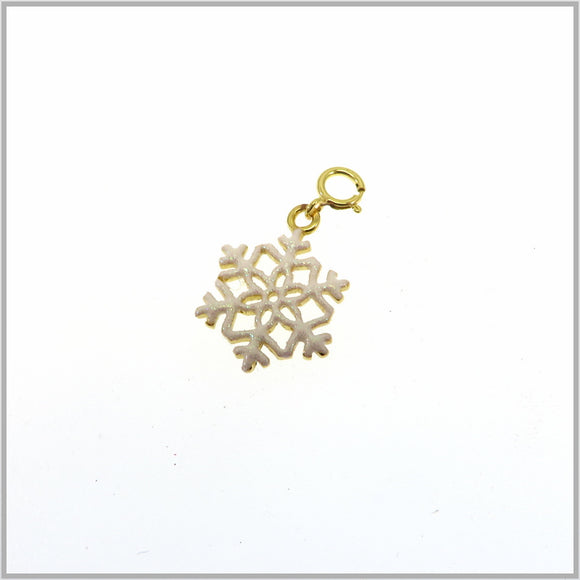 PS7.49 Gold Snowflake Charm/Pendant