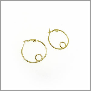 PS7.60 Gold Loop Hoop Earrings