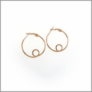 PS7.61 Rose Gold Loop Hoop Earrings