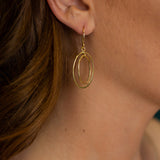PS7.69 Golden Oval Earrings