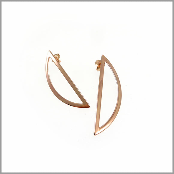 PS7.91 Rose Gold Half Moon Earrings