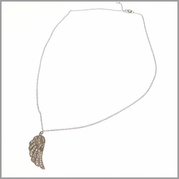 PS8.46 Angel Wing Silver Necklace