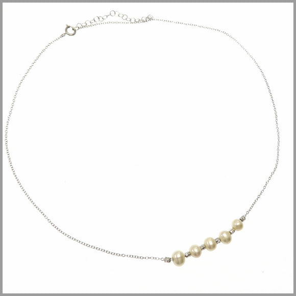 PS8.47 Pearl & Silver Necklace
