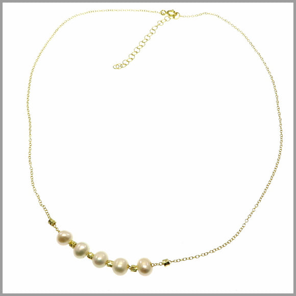PS8.48 Pearl & Gold Necklace