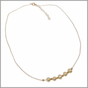 PS8.49 Pearl & Rose Gold Necklace