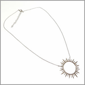 PS8.52 Silver Sun Necklace