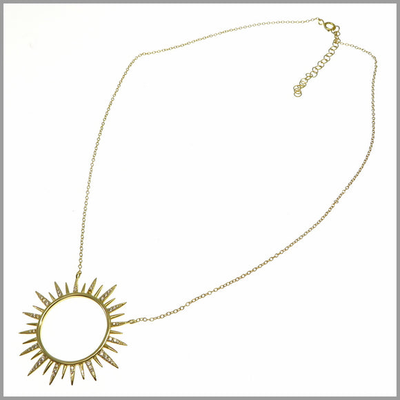 PS8.53 Gold Sun Necklace