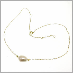 PS9.100 Gold Baroque Pearl Necklace
