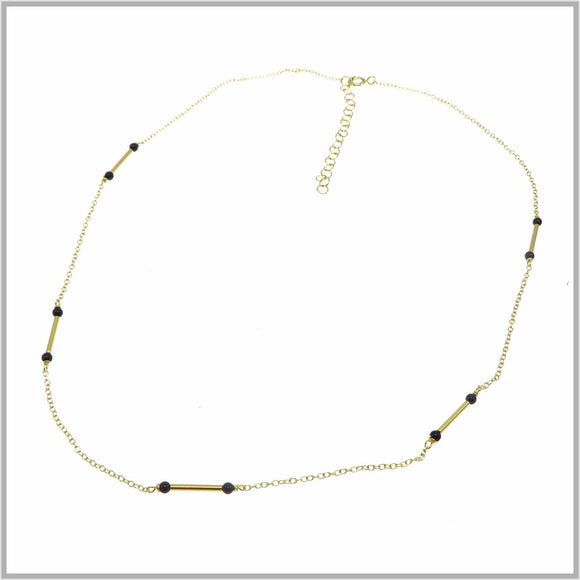 PS9.106 Black & Gold Egyptian Necklace