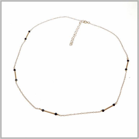 PS9.107 Black & Rose Gold Egyptian Necklace