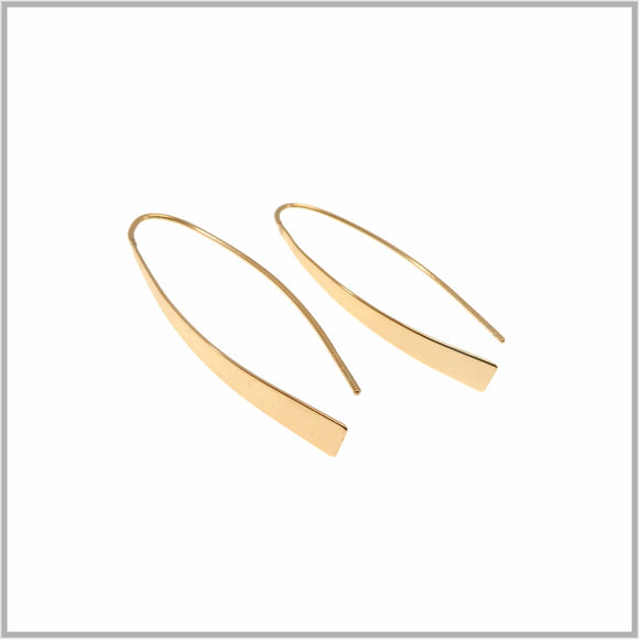 PS9.112 Scultural Rose Gold Earrings