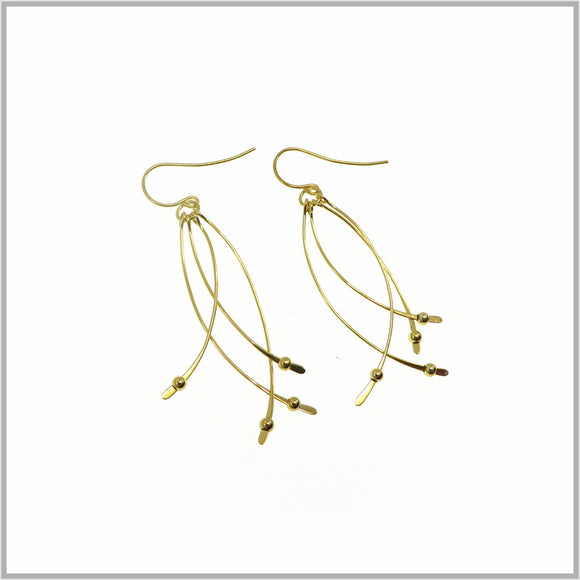 PS9.115 Gold Wind Chime Earrings