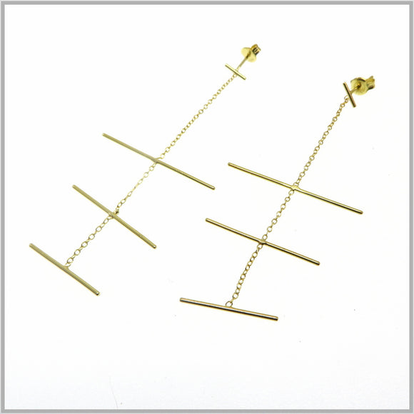 PS9.117 Gold Mobile Earrings