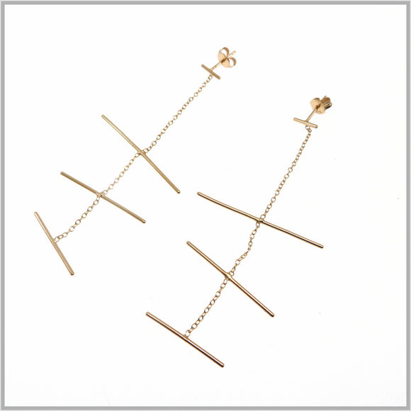PS9.118 Rose Gold Mobile Earrings