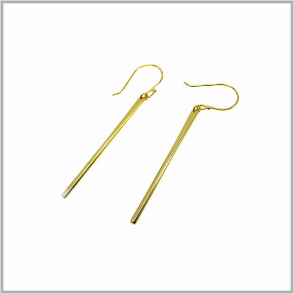 PS9.120 Gold Bar Earrings