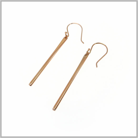 PS9.121 Rose Gold Bar Earrings