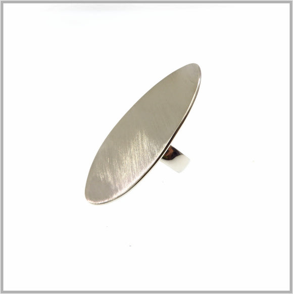 PS9.124 Brushed Silver Shield Ring