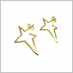 PS9.14 Gold Fallen Star Stud Earrings