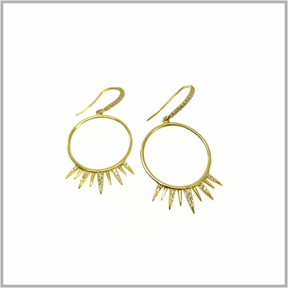 PS9.17 Gold Sun Eclipse Earrings