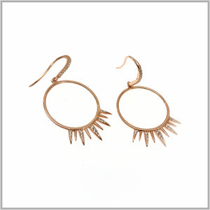 PS9.18 Rose Gold Sun Eclipse Earrings
