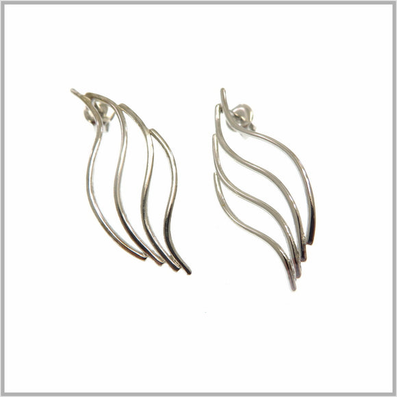 PS9.19 Silver Flame Earrings