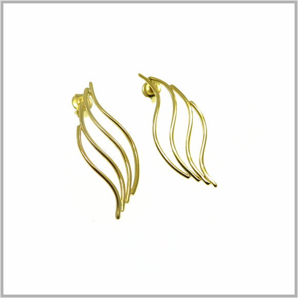 PS9.20 Gold Flame Earrings