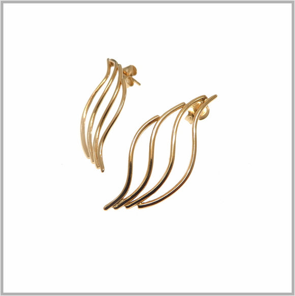 PS9.21 Rose Gold Flame Earrings