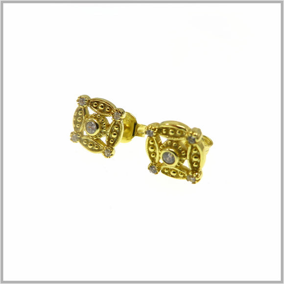 PS9.23 Gold Compass Stud Earrings