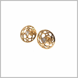 PS9.30 Rose Gold Mandala Flower Earrings
