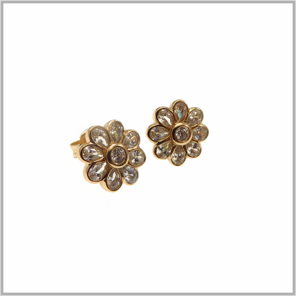 PS9.33 Rose Gold Daisy Sparkle Earrings