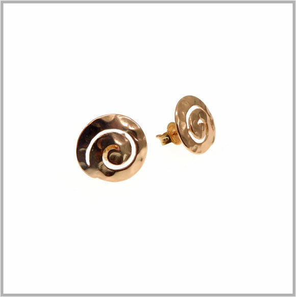 PS9.42 Rose Gold Swirl Stud Earrings