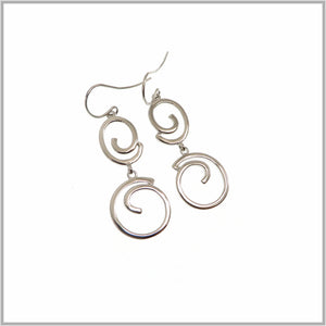PS9.43 Silver Swirl Drop Earrings