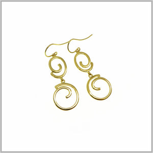 PS9.44 Gold Swirl Drop Earrings