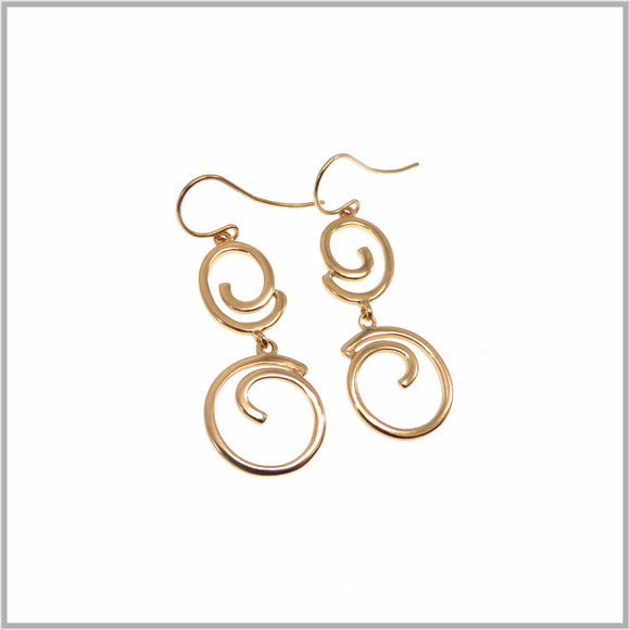 PS9.45 Rose Gold Swirl Drop Earrings
